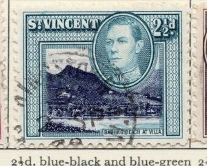 St Vincent 1938-47 Early Issue Fine Used 2.5d. 029201