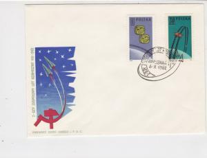 Poland  1962 i-Stellar Space Flight Rocket Slogan Cancel FDC Stamps CoverRf25069