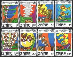 Kinshasa. 1982. 747-54. Telecommunications, red cross. MNH.