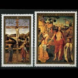 GABON 1975 - Scott# C160-1 Easter-Paintings Set of 2 NH