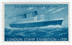 (I.B) Cinderella Collection : Stamp Exhibition 1939 (SS Queen Elizabeth)