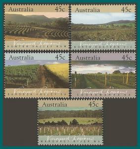 Australia 1992 Vineyards, MNH #1262-1266,SG1347-SG1351