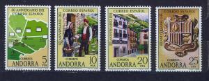 ANDORRA SPANISH 1978 MNH SC.102a/d Spanish postal service 50th