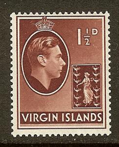 British Virgin Islands, Scott#78, 1 1/2p King George VI, MH