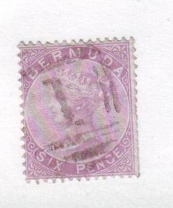 Bermuda Sc 5 1874 6d lilac Victoria stamp used