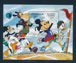 Disney Anguilla - MNH  Souvenir Sheet Mickey Olympic #568a (1984)