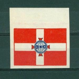 Denmark. Poster Stamp 1919 Mnh With Margin. IOGT Order Templars Grandlodge.Logo.