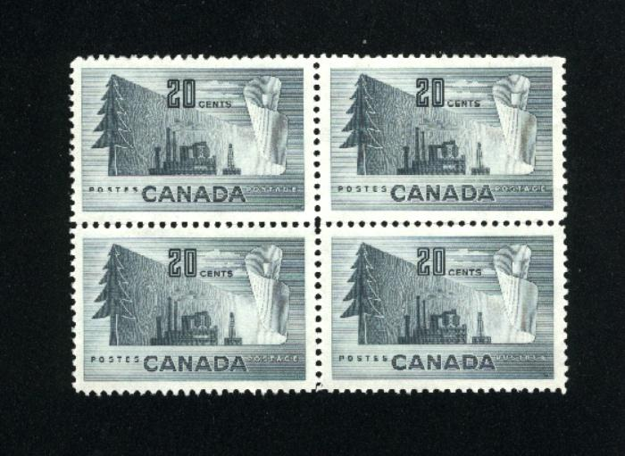 Can #316   block used VF 1952 PD
