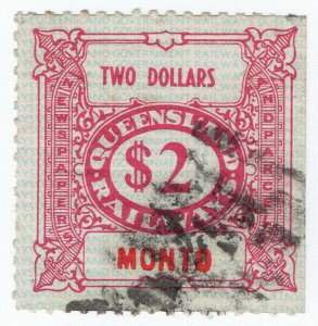 (I.B) Australia - Queensland Railways : Parcel Stamp $2 (Monto)