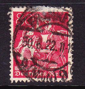 GERMANY 1921 80pf RED  FU SG 161