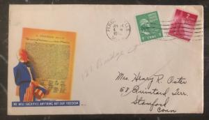 1945 Fergus Falls USA Patriotic Cover We Will Sacrifice Anything But Freedom