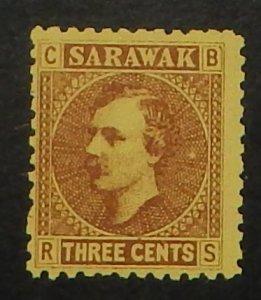 Sarawak 2. 1871 3c Sr Charles Johnson Brooke, without gum