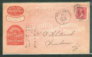 1894, The Tuttle Co Booksellers Vermont pink advertising cover