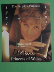 SCOTLAND STAMP- 1997-PRINCESS OF WALES- DIANA WITH THE CANDLE-MINT-NH S/S SHEET