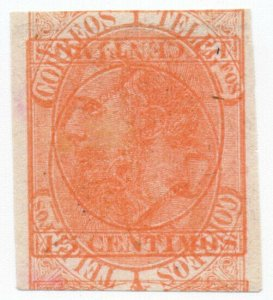 (I.B) Spain Postal : King Alfonso 15c (multiple print)