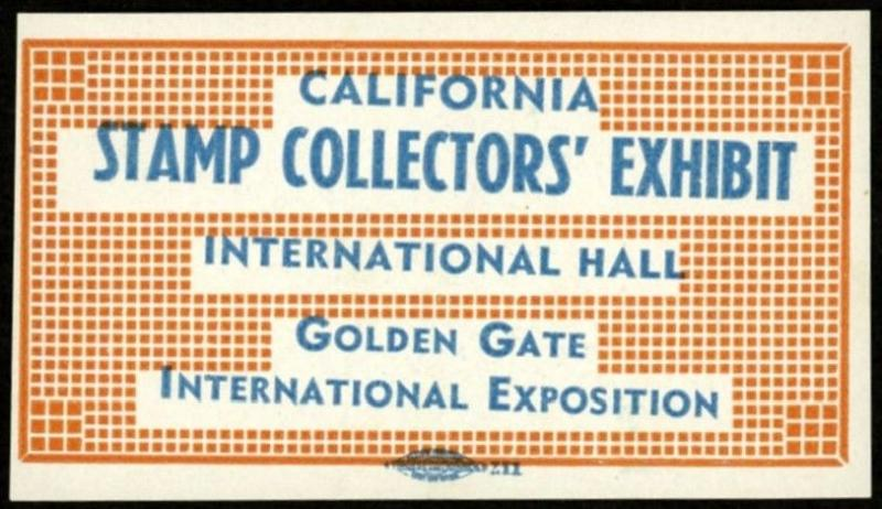 1939 California Stamp Collectors Exhibit ~ GOLDEN GATE