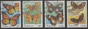 TOKELAU ISLANDS SG230/3 1995 BUTTERFLIES FINE USED
