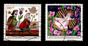Germany Sc B842-3 1998 Chistmas stamp set used