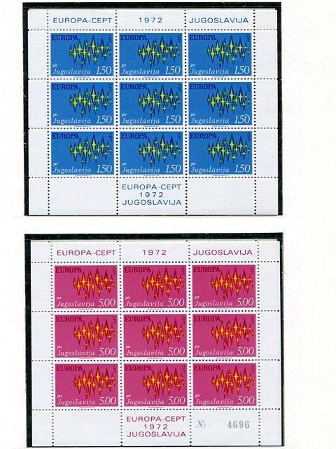 Europa CEPT  1972  complete VF NH  - Lakeshore Philatelics