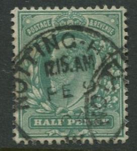 Great Britain - Scott 127 - KEVII Definitive -1902 - Used - Single 1/2p Stamp