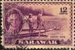 Sarawak: 1950 Sc. #187, O/Used Single Stamp