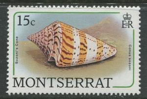 Montserrat - Scott 683 - QEII Definitive- Shells -1988 - MNH -Single 15c Stamp
