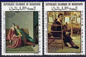 1967 Mauritania 323-324 100 years to the artist Dominic Ingres 5,50 €