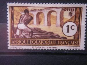 FRENCH EQUATORIAL AFRICA, 1937, MH 1c, Scott 33