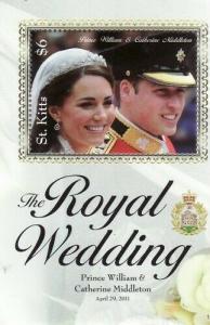 St Kitts - Royal Wedding  Stamp S/S STK1116S
