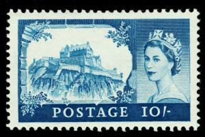 SG597, 10s blue, M MINT. Cat £55. DE LA RUE