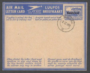 BASUTOLAND MINT AIR MAIL LETTER CAN PRECANCEL XF SOUND