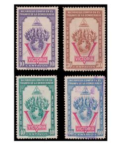 STAMP FROM NICARAGUA YEAR 1943. SCOTT # 689 - 90 AND C261 - 62.