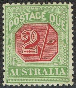 AUSTRALIA 1909 POSTAGE DUE 2/- PERF 12 X 12.5