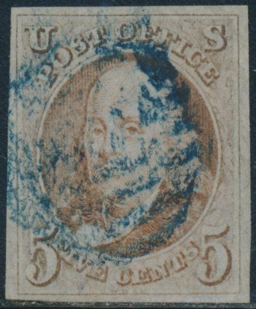 #1 VF-XF USED WITH BLUE CANCEL CV $500 BS4706