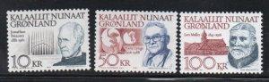 Greenland Sc 242-249 1991-92 Famous Men High Values stamp set mint NH