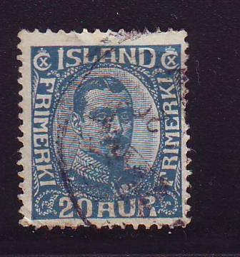 Iceland Sc 118 1920 20  a Christian X stamp used