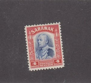 SARAWAK # 132 VF-MLH 4cts CAT VALUE $50