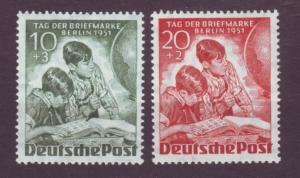 J20734 Jlstamps 1951 berlin germany set mnh #9nb6-7 stamp collector
