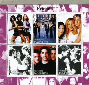 Tadjikistan 2000 Friends TV series Sheet Perforated mnh.vf