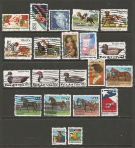 USA Postage Stamps Used (41 stamps)
