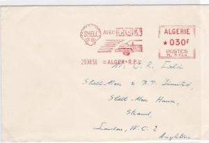 SHELL PETROLEUM  ADVERTISING SLOGAN METER MAIL COVER ALGERIA  1956  REF 6340