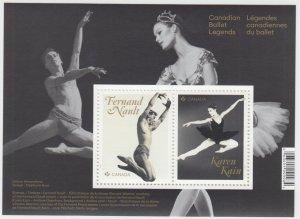 Canada - *NEW* Canadian Ballet Legends Souvenir Sheet (2021) - MNH