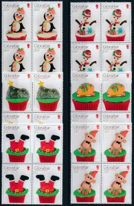 [I997] Gibraltar 2017 Christmas good set in bloc of 4 stamps very fine MNH