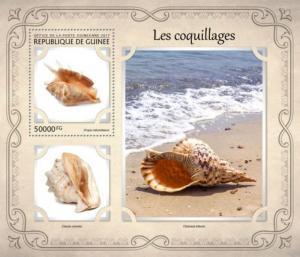 Guinea - 2017 Shells on Stamps - Stamp Souvenir Sheet - GU17113b