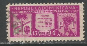DOMINICAN REPUBLIC 395 VFU Z1382-1