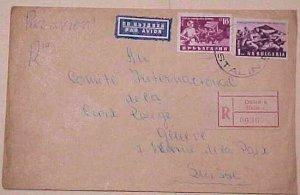 BULGARIA  POW RED CROSS GENEVA 1954 REGISTERED COVER