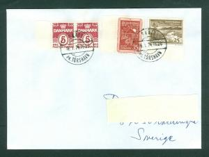 Faroe Islands. Denmark. Cover 1974. Skali. Scott# Pair 224+411+414. Adr. Sweden