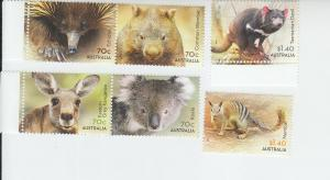 2015 Australia Native Animals (6) (Scott 4225-30) MNH