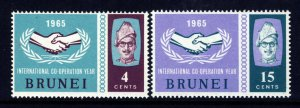 BRUNEI 1965 Complete International Co-operation Year Set SG 134 & SG 135 MINT