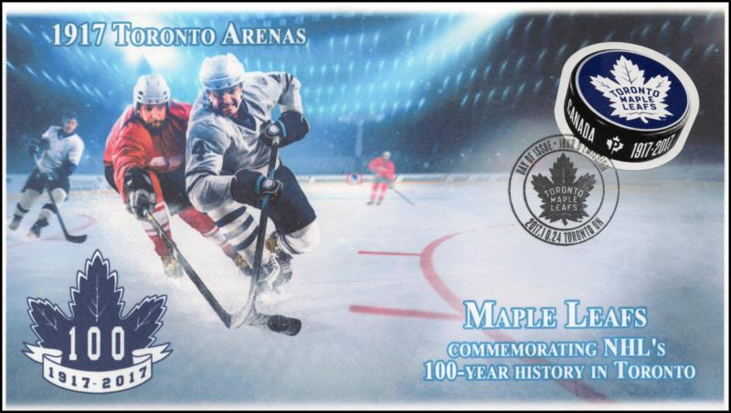 CA17-053, 2017, Toronto Maple Leafs, 100 Years, 1917 Toronto Arenas, Day of Issu